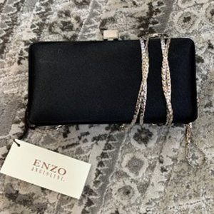 Enzo Angiolini Satin Evening Clutch Bag